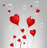 Valentine card with bubble Royalty Free Stock Image
