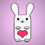 Valentine card with bunny Stock Photos