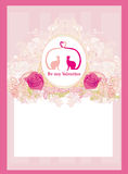 Valentine card with cats in love. Illustration Stock Images