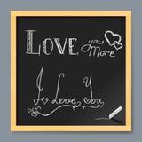 Valentine card on chalkboard Stock Photography