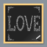 Valentine card on chalkboard Royalty Free Stock Photography