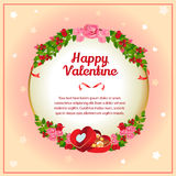 Valentine card chocolate box Royalty Free Stock Image