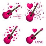 Valentine Card Collection Fotografia Stock
