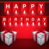 Valentine card 1-06 - Copy [Converted]. Happy birthday banner vector illustration