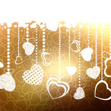 Valentine card with copy space. EPS 8 Royalty Free Stock Photo