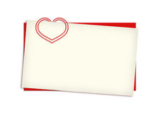 Valentine card copyspace Stock Photography