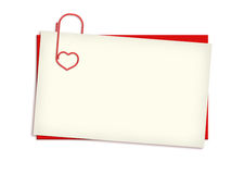 Valentine card with copyspace Stock Image