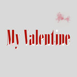 Valentine card created concept background Royalty Free Stock Photography