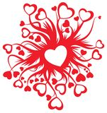 Valentine Card Decoration Royalty Free Stock Photography