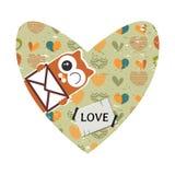 Valentine card with decorative heart. Valentine card design with decorative heart Stock Images