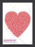 Valentine Card design Royaltyfri Foto