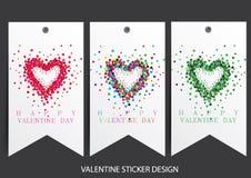 Valentine card design Royalty Free Stock Photo