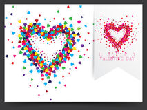 Valentine card design Royalty Free Stock Photo
