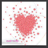 Valentine card design Royalty Free Stock Images