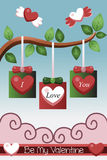 Valentine card design Stock Images