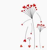 Valentine card flower Stock Image
