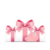 Valentine card with gift boxes Royalty Free Stock Photography