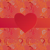 Valentine card with heart Stock Images