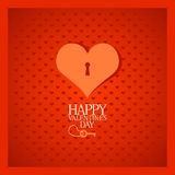 Valentine card with heart. Royalty Free Stock Photo