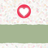 Valentine card with heart. EPS 8. Valentine card with heart. And also includes EPS 8 Stock Image