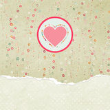 Valentine card with heart. EPS 8 Stock Image