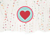 Valentine card with heart. EPS 8. Valentine card with heart. And also includes EPS 8 Royalty Free Stock Photo