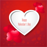 Valentine card with heart-EPS10. Valentine card with loving heart Royalty Free Stock Image