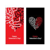 Valentine card with heart shape for your design Stock Photography