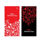Valentine card with heart shape for your design Royalty Free Stock Photo
