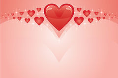 Valentine Card With Hearts Stock Photo