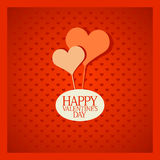 Valentine card with hearts. Royalty Free Stock Images