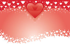 Valentine Card With Hearts III Stock Images