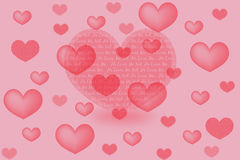 valentine card with hearts Royalty Free Stock Photo