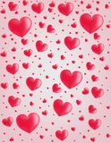 Valentine card hearts vector  background Stock Images