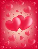 Valentine card hearts vector illustration Royalty Free Stock Images
