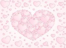 Valentine card hearts vector illustration Stock Photo