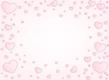 Valentine card hearts vector illustration Royalty Free Stock Photo