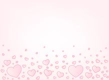 Valentine card hearts vector illustration Royalty Free Stock Image