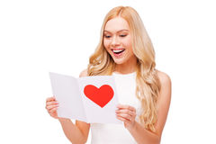 Valentine card from him. Royalty Free Stock Photo