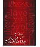 Valentine card I love you Royalty Free Stock Photos