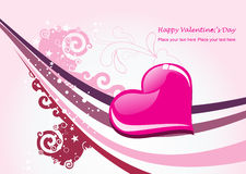 Valentine card illustration on abstract background Stock Image