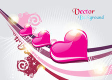Valentine card illustration on abstract background Stock Images