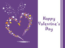 Valentine card illustration on abstract background. Illustration of valentine heart on abstract background Stock Photos