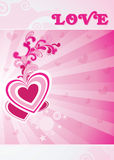 Valentine card illustration on abstract background Stock Photo