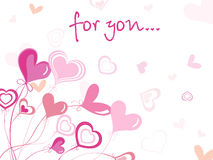 Valentine card only for love Royalty Free Stock Images
