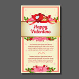 Valentine card love. Greeting card,poster,flyer  for valentine event Stock Image