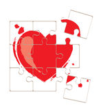 Valentine card -- love puzzle Stock Photography
