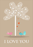 Valentine card-love tree Royalty Free Stock Photography