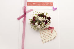 Valentine card lovely wife Stock Images