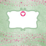 Valentine card with placeholder.  Stock Images